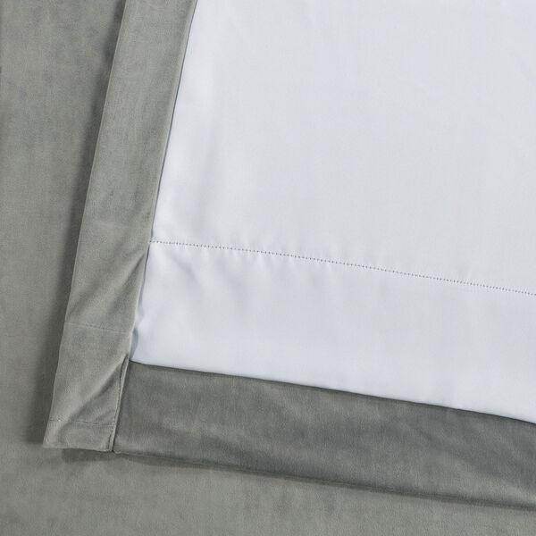Silver Grey 96 x 100 In. Double Wide Grommet Blackout Velvet Curtain Single Panel, image 4