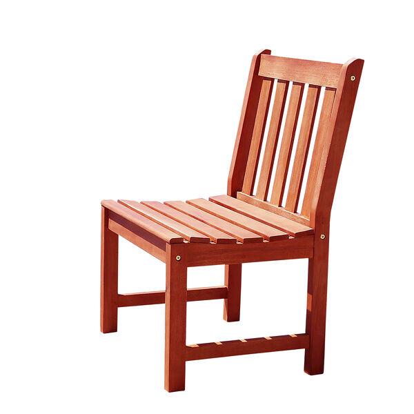 Malibu Eco-friendly Outdoor Hardwood Garden Armless Chair, image 1