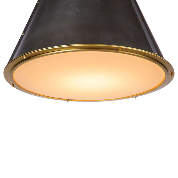 French Maid Brass Chandelier, image 5