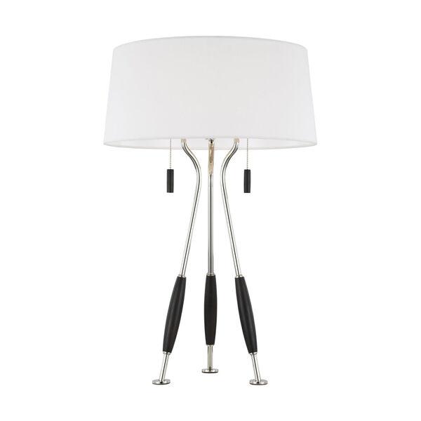 Arbur Ebony Wood Two-Light Title 24 Table Lamp, image 2