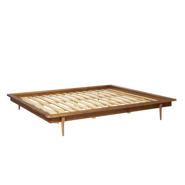 Caramel Wooden King Platform Bed, image 2