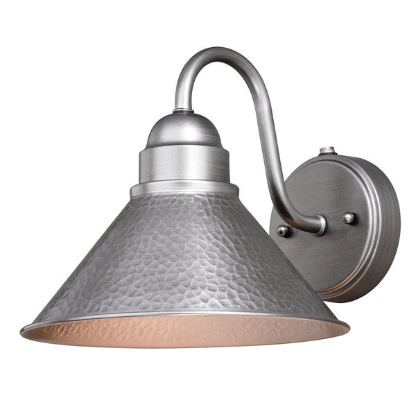 Outland Brushed Pewter One-Light Outdoor Wall Mount, image 1