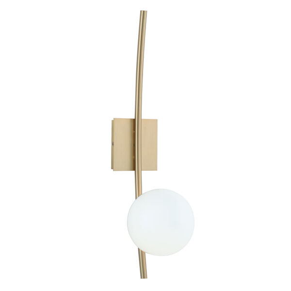 Perch Satin Brass One-Light Wall Sconce, image 1