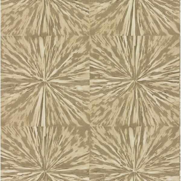Antonina Vella Elegant Earth Light Gold Squareburst Geometric Wallpaper, image 2