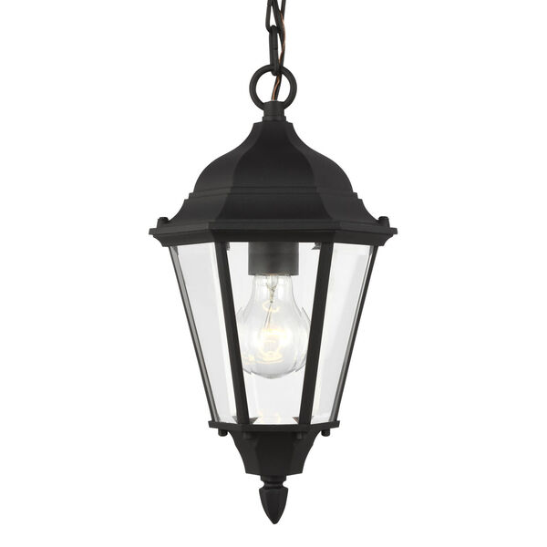 Bakersville Black One-Light Outdoor Pendant with Satin Etched Shade, image 2