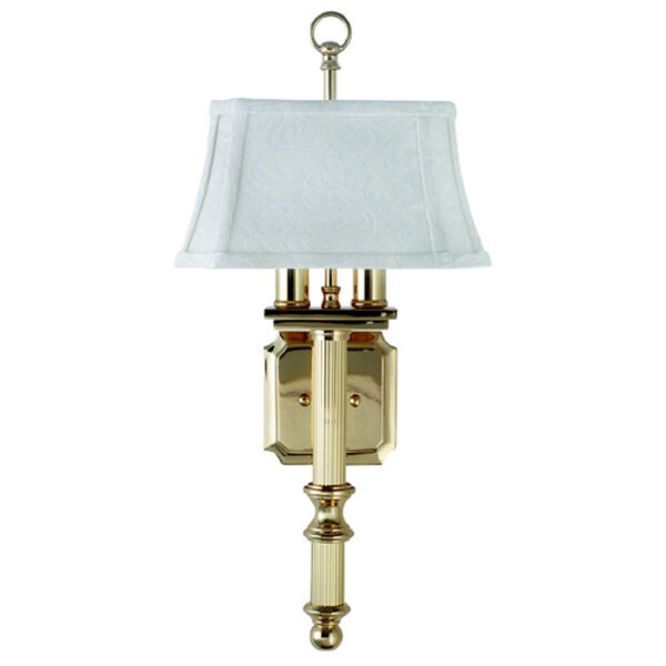 Shaded Two-Light Wall Sconce, image 1