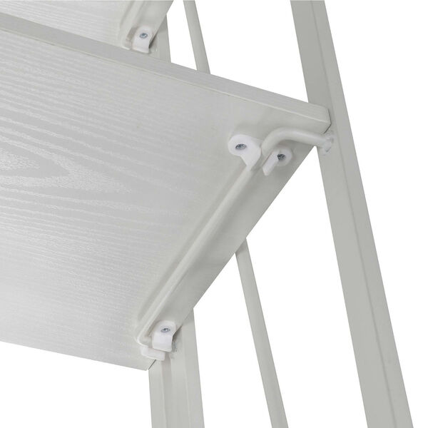 Xtra White Folding Four Tier Bookshelf, image 4