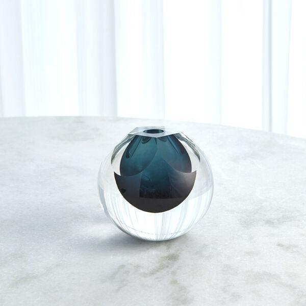 Studio A Home Azure Pentagon Cut Glass Vase, image 3