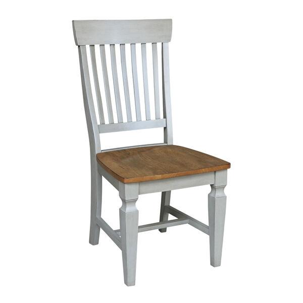 Vista Hickory Stone Slat Back Chair, Set of Two, image 4