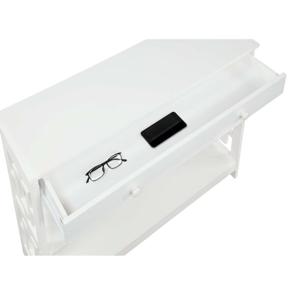 Town Square White Accent Console Table, image 5