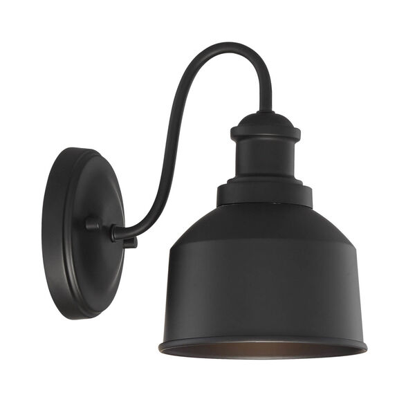 Lex Matte Black Six-Inch One-Light Outdoor Wall Sconce, image 3