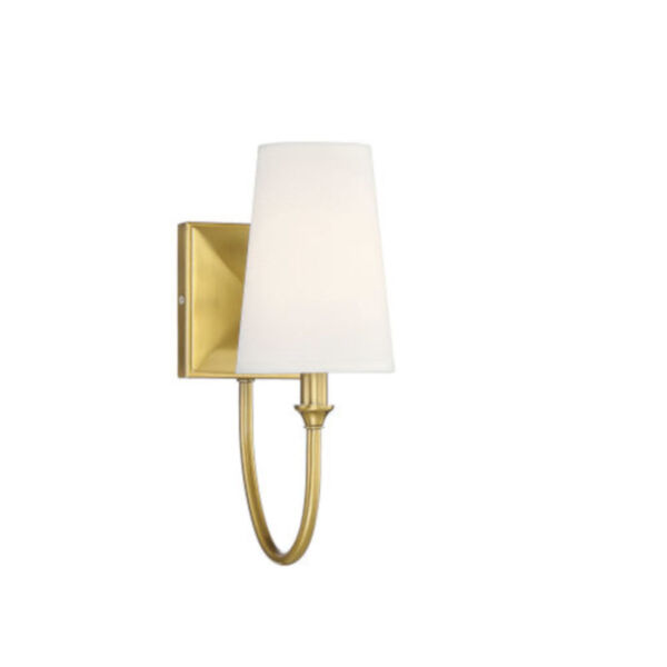 Anna Warm Brass One-Light Wall Sconce, image 1