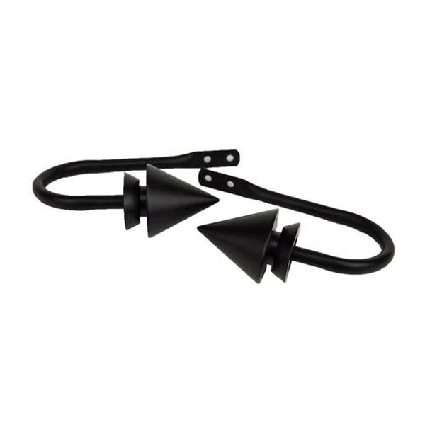 Cone Black Decorative Holdback, Set of 2, image 1