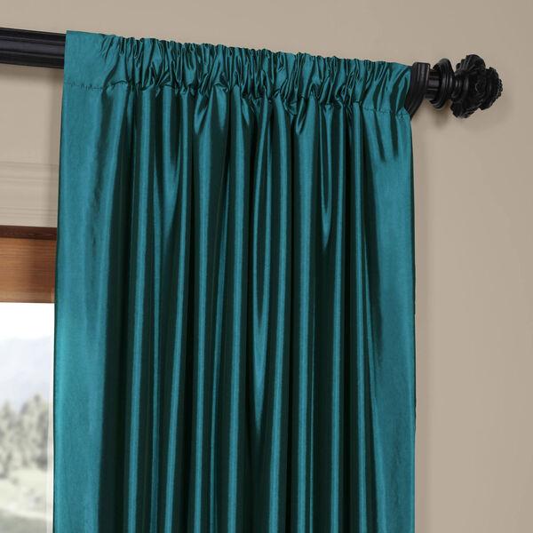 Mediterranean Faux Silk Taffeta Single Panel Curtain, 50 X 120, image 3