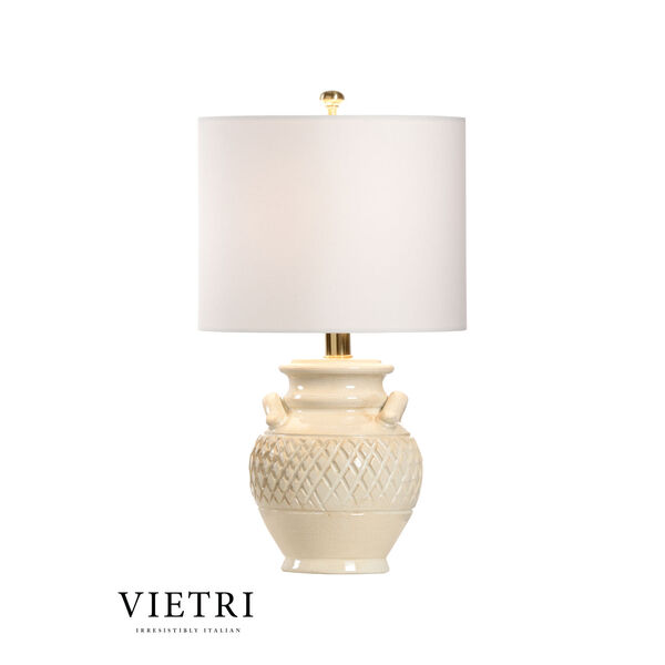Cancello Cream and White One-Light Table Lamp, image 1