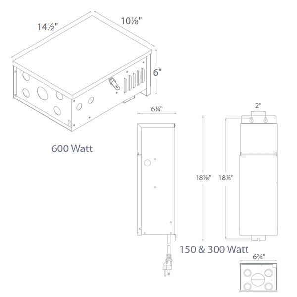 Stainless Steel 150W Magnetic Landscape Power Supply, image 4