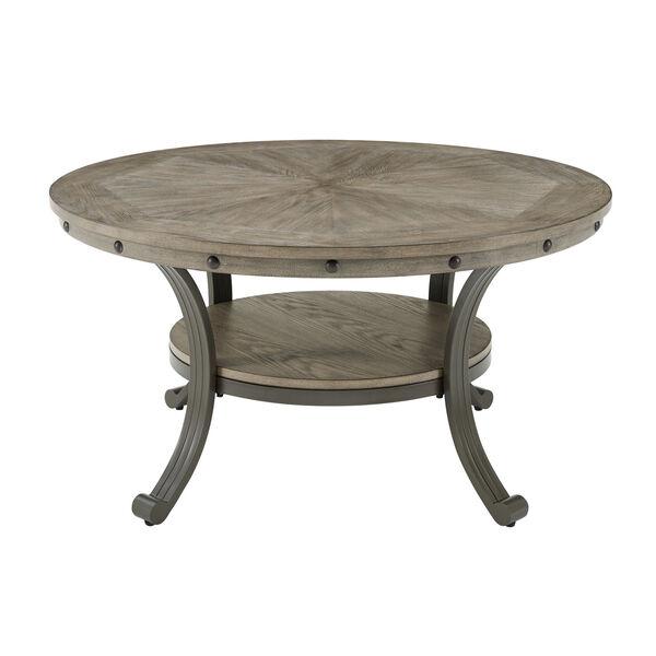 Elizabeth Pewter Round Coffee Table, image 1