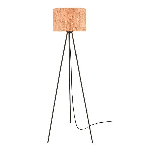 Flemming Matte Black One-Light Floor Lamp, image 1
