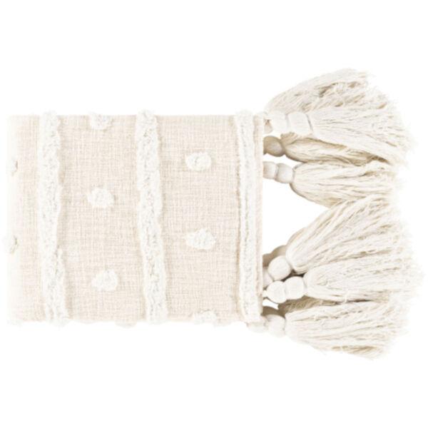 Dallan White and Cream Throw, image 1