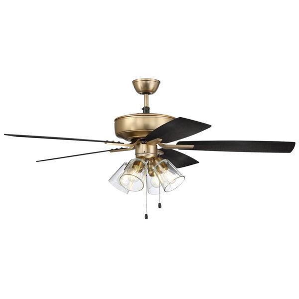 Pro Plus Satin Brass 52-Inch Four-Light Ceiling Fan, image 3