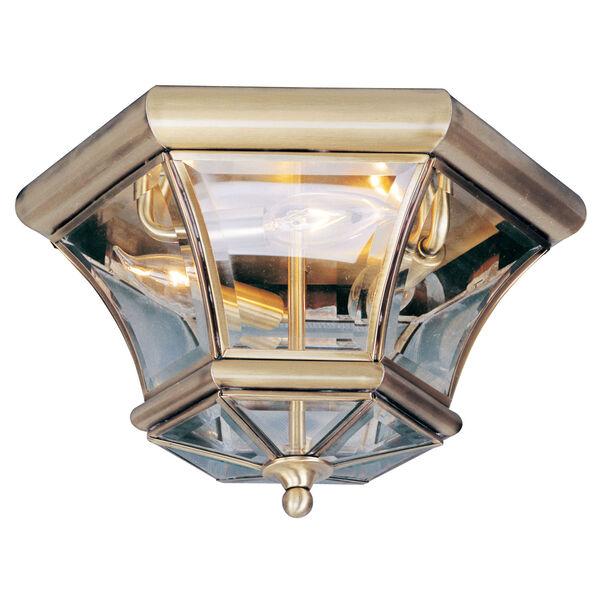 Monterey Antique Brass Three-Light Semi-Flush, image 1