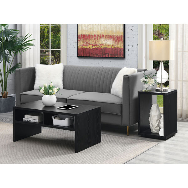 Northfield Admiral Black Deluxe Coffee Table with Shelves, image 5