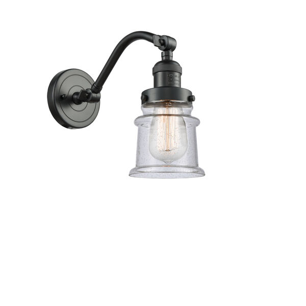 Franklin Restoration Oil Rubbed Bronze 12-Inch LED Wall Sconce with Seedy Canton Shade, image 1