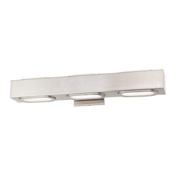 Kimball Brushed Nickel 23-Inch ADA Bath Vanity with Satin Glass Diffuser, image 3