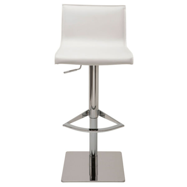Colter White and Silver Adjustable Stool, image 2