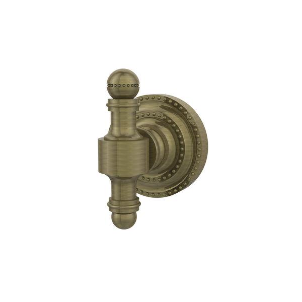 Retro-Dot Antique Brass Utility Hook, image 1