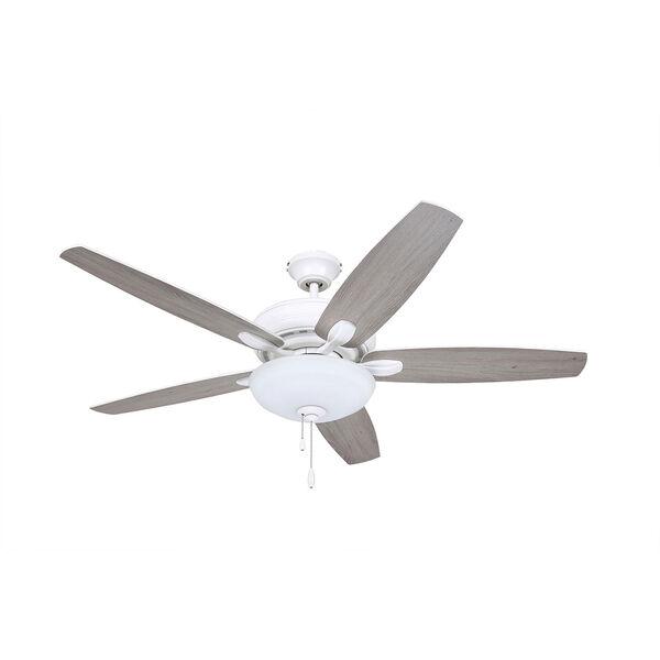 Pro Series Satin White Three Light Ceiling Fan, image 4