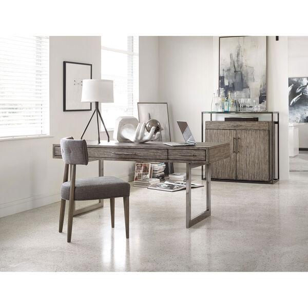 Curata Gray Upholstered Chair, image 2