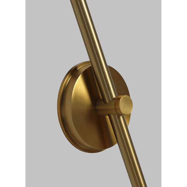 Nodes Burnished Brass 8-Inch One-Light Wall Sconce, image 2