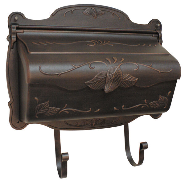 Floral Copper Horizontal Mailbox, image 1