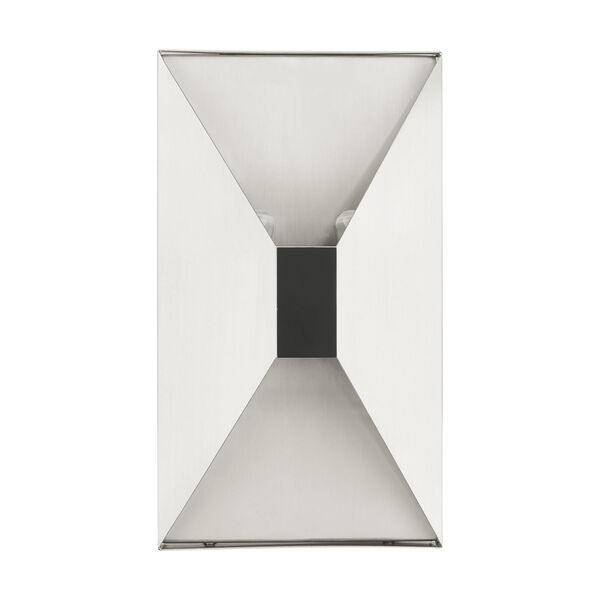 Lexford Brushed Nickel Two-Light ADA Wall Sconce, image 2