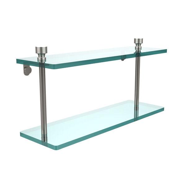 Foxtrot Satin Nickel Double Shelf, image 1