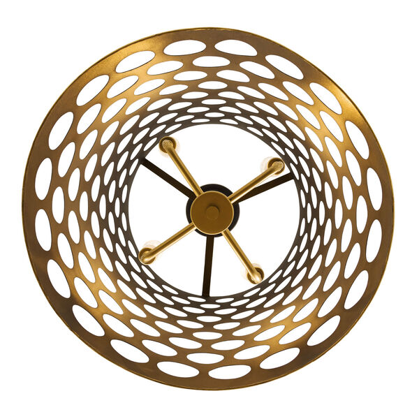 Bailey Matte Black French Gold Four-Light Pendant, image 4