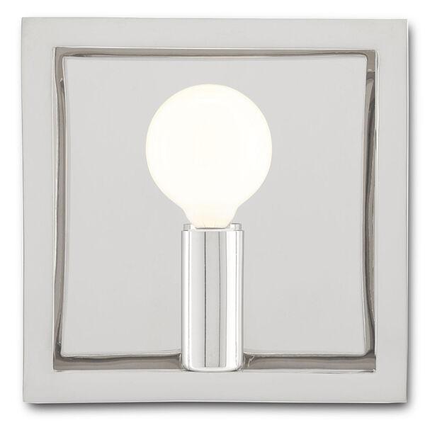 Quadrato Polished Nickel One-Light Wall Sconce, image 2