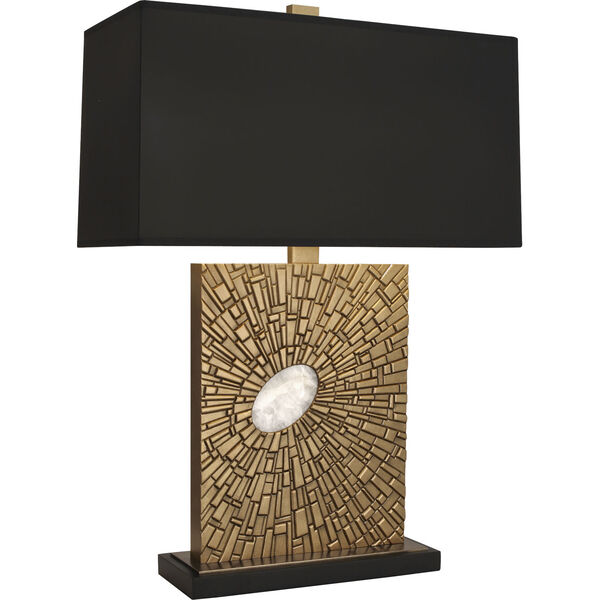 Goliath Antiqued Modern Brass One-Light Table Lamp, image 1