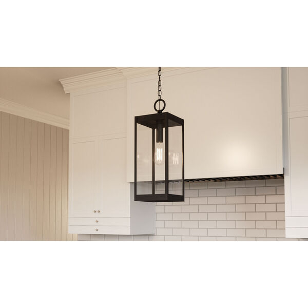 Westover Earth Black One-Light Outdoor Pendant, image 3