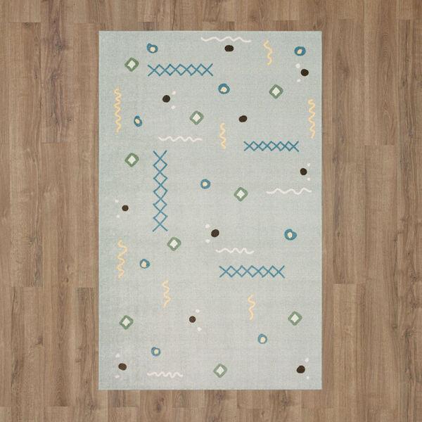 Tolani Gray Light Blue Abstract Rectangular: 2 Ft. x 3 Ft. Area Rug, image 2