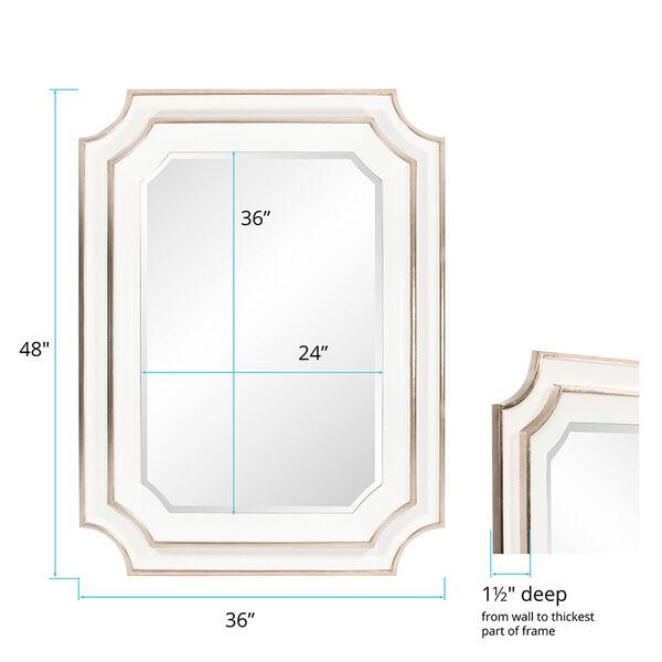 Dante Glossy White Mirror, image 5