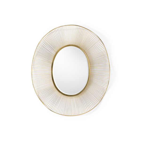 White and Gold 35-Inch Luton Mirror, image 1