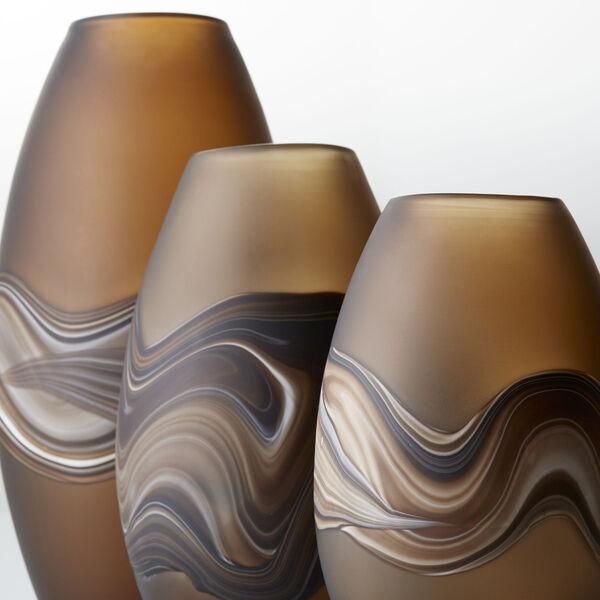 Amber Swirl 8-Inch Nina Vase, image 4