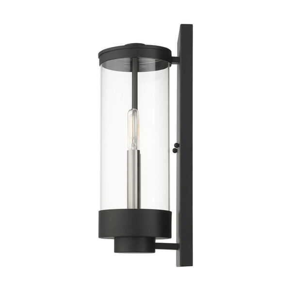 Hillcrest Textured Black Two-Light Outdoor Wall Lantern, image 6