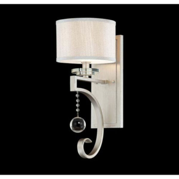 Eden Silver Seven-Inch One-Light Wall Sconce, image 2