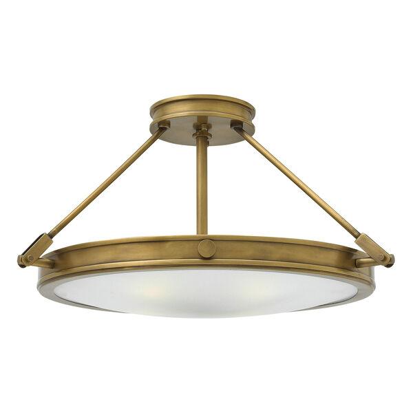 Collier Heritage Brass 22-Inch Four-Light Semi-Flush Mount, image 1