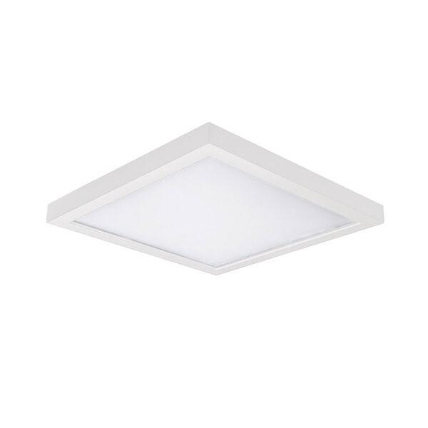 White 5-Inch 3500K LED ADA Square Flush Mount, image 1