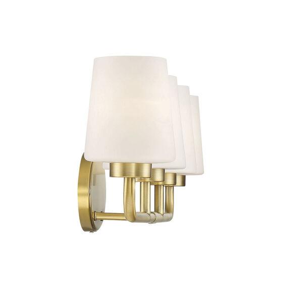 Capra Warm Brass Four-Light Bath Vanity, image 5