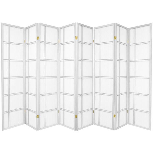 6-Foot Tall Double Cross Shoji Screen - White - 8 Panels, image 1